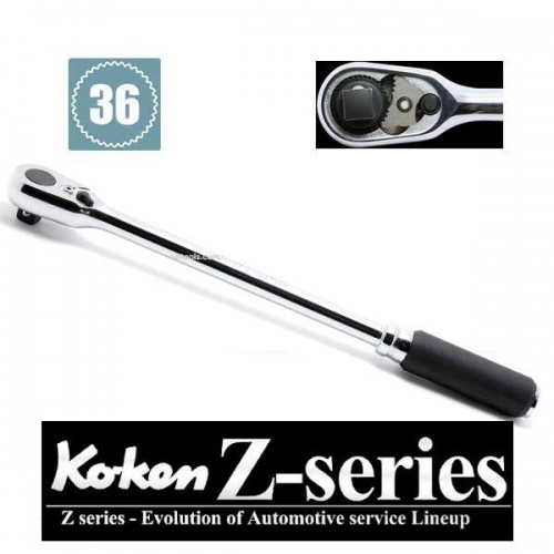 Koken 3725Z-280 Z Series 3/8''Dr 280mm Long Ratchet 36tooth