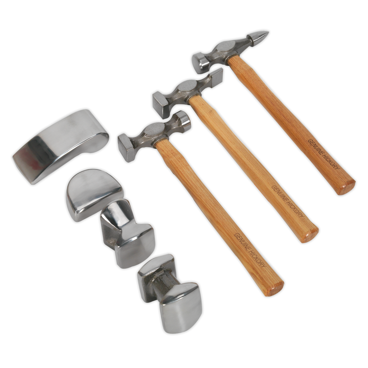 Sealey CB507 - Panel Beating Set 7pc Drop-Forged Hickory Shafts