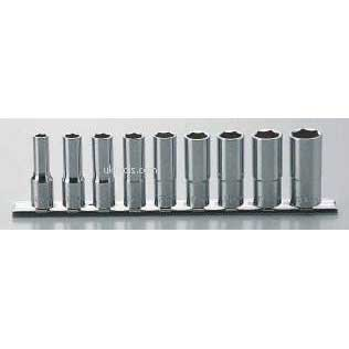 Koken RS3300A/9 9 Piece  3/8''Drive 6-Point Deep Socket Set on Rail