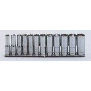 Koken RS3300M/12 12 Piece 3/8''Drive 6-Point Deep 55mm Long Socket Set