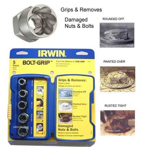 Irwin 5pc Bolt Extractor Sets