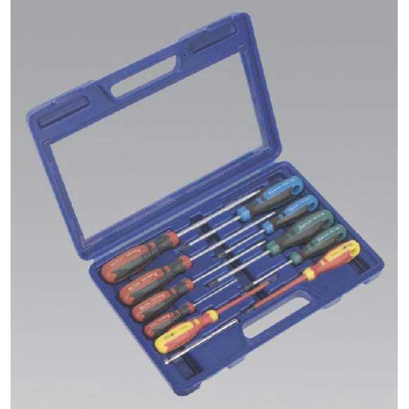 Sealey AK4303 - Screwdriver Set with Carry-Case 11pc GripMAX