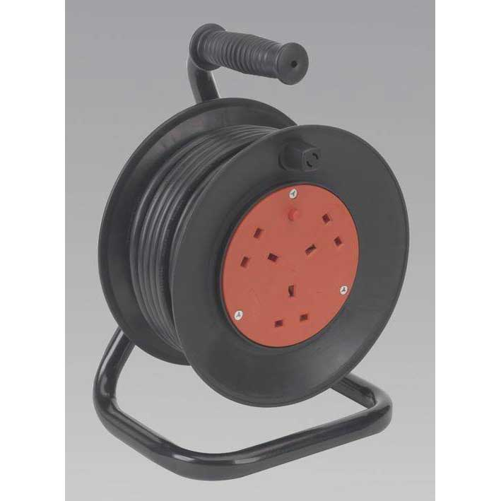 Sealey BCR153T - Cable Reel 15mtr 3 Core 230V Thermal Trip