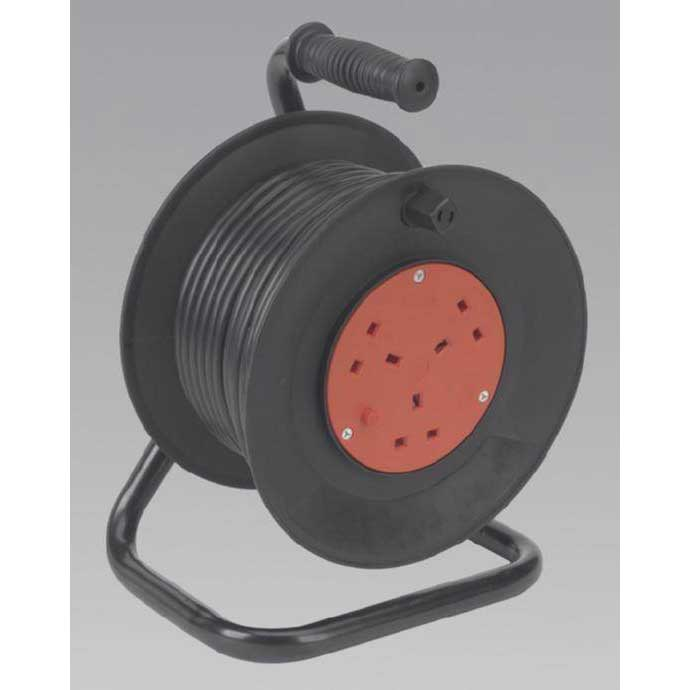 Sealey BCR253T - Cable Reel 25mtr 3 Core 230V Thermal Trip