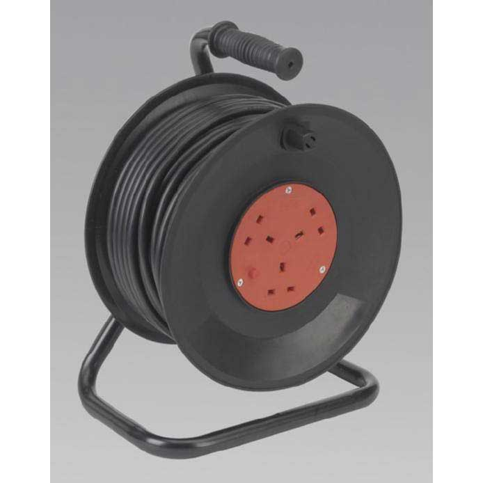 Sealey BCR503T - Cable Reel 50mtr 3 Core 230V Thermal Trip