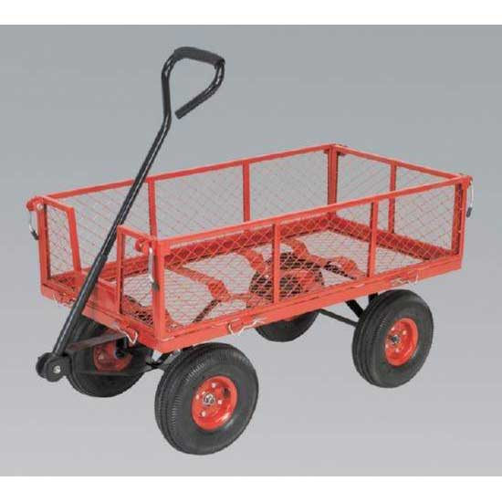 Sealey CST997 - Platform Truck with Sides Pneumatic Tyres 200kg Capacity