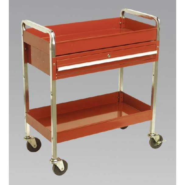 Sealey CX101D - Trolley 2-Level Extra Heavy-Duty with Lockable Drawer