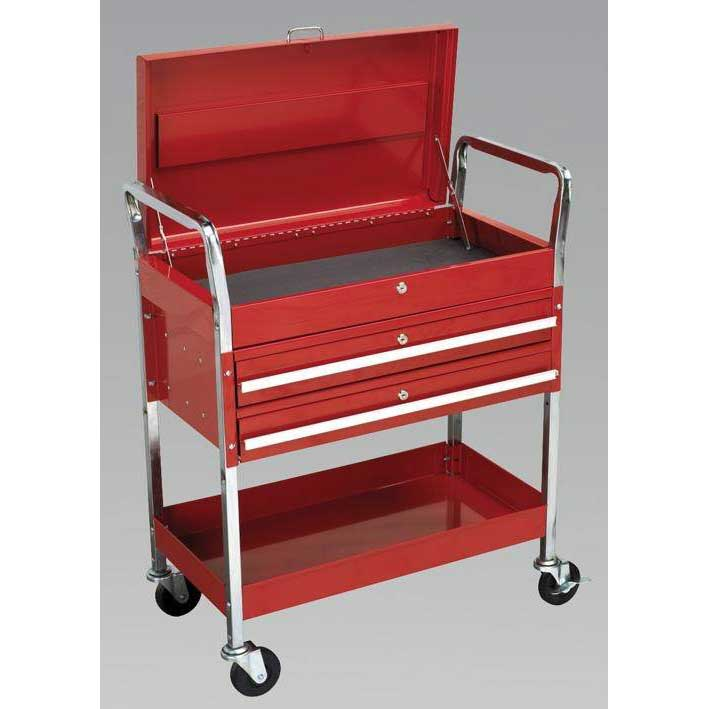 Sealey CX1042D - Trolley 2-Level Extra Heavy-Duty with Lockable Top & 2 Drawers