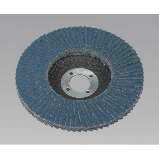 Sealey FD10040 - Flap Disc Zirconium O100mm 16mm Bore 40Grit