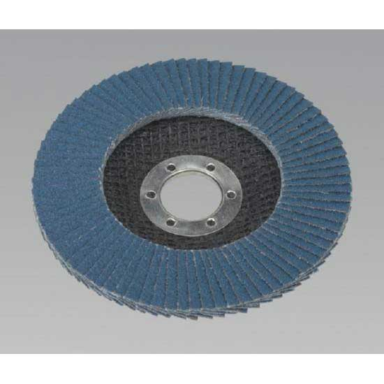 Sealey FD11580 - Flap Disc Zirconium O115mm 22mm Bore 80Grit