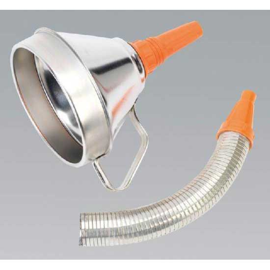 Sealey FM16F - Funnel Metal with Flexi Spout & Filter 160mm