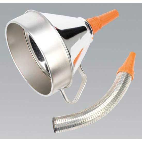 Sealey FM20F - Funnel Metal with Flexi Spout & Filter 200mm