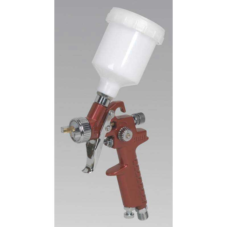 Sealey HVLP731 - HVLP Gravity Feed Touch-Up Spray Gun 0.8mm Set-Up