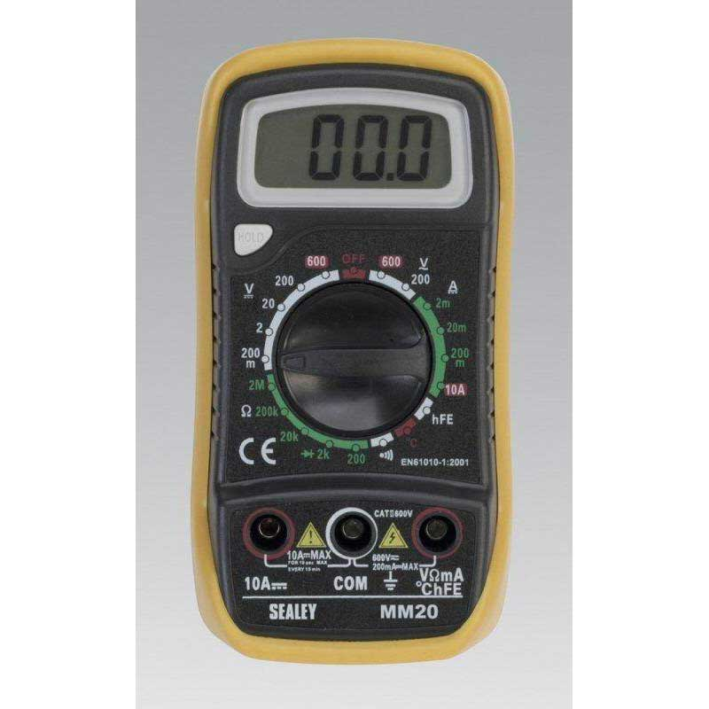 Sealey MM20 - Digital Multimeter 7 Function with Thermocouple
