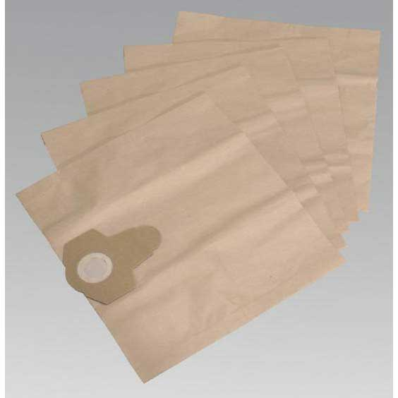 Sealey PC300PB5 - Dust Collection Bags for PC300SD  PC300SDAUTO Pack of 5