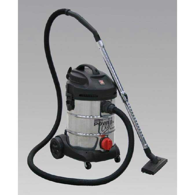 Sealey PC300SD - Vacuum Cleaner Industrial 30ltr 1400W/230V Stainless Bin