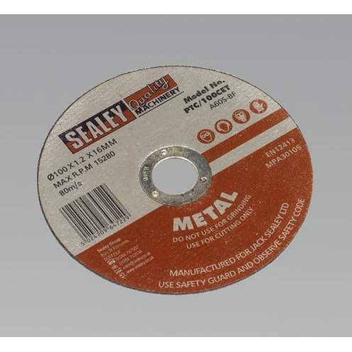 Sealey PTC/100CET - Cutting Disc O100 x 1.2mm 16mm Bore