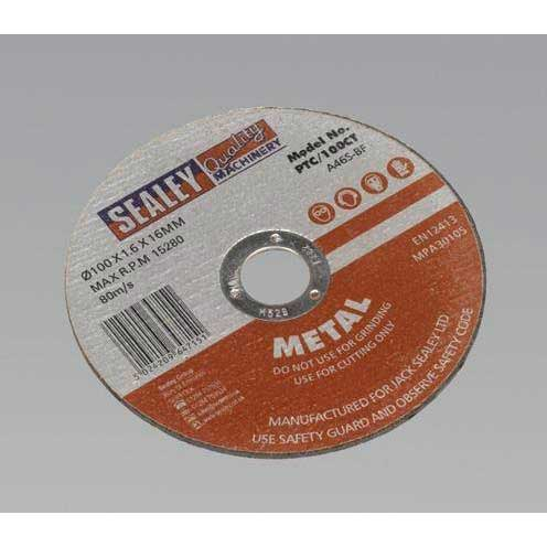 Sealey PTC/100CT - Cutting Disc O100 x 1.6mm 16mm Bore