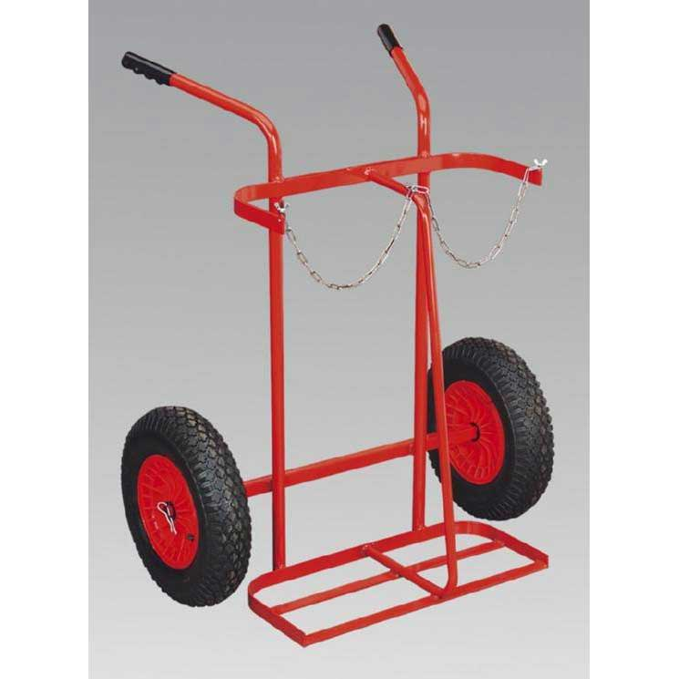 Sealey ST28P - Welding Bottle Trolley with Pneumatic Tyres