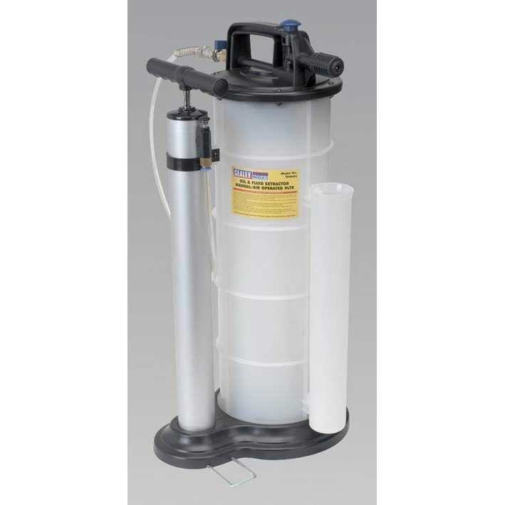 Sealey TP6904 - Vacuum Oil & Fluid Extractor Manual/Air 9ltr