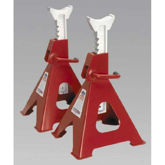 Sealey VS2006 - Axle Stands 6tonne Capacity per Stand 12tonne per Pair Ratchet Type