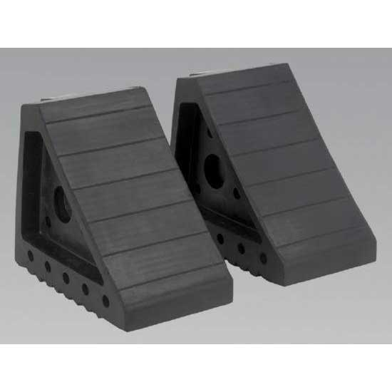 Sealey WC01 - Rubber Wheel Chocks 2.0kg - Pair