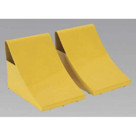 Sealey WC05 - Heavy-Duty Steel Wheel Chocks - Pair
