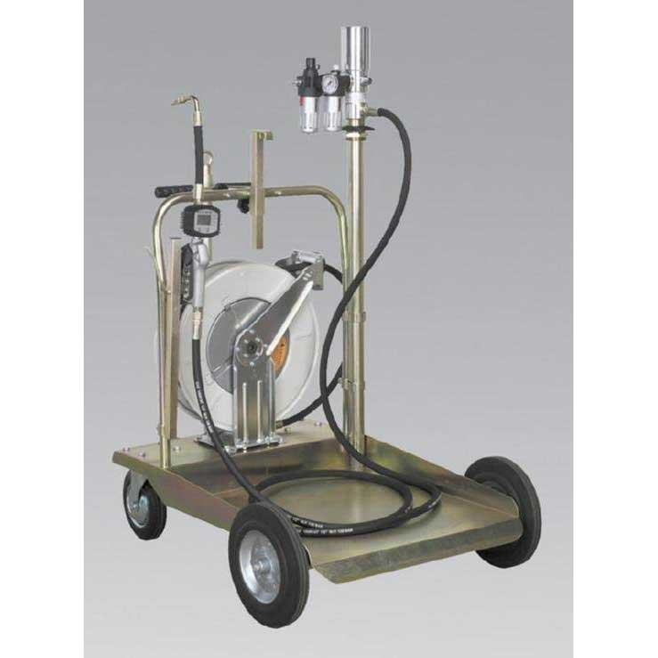 Sealey AK4562D - Oil Dispensing System Air Operated with 10mtr Retractable Hose Reel