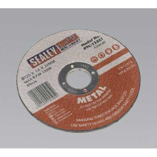 Sealey PTC/125CT - Cutting Disc O125 x 1.6mm 22mm Bore
