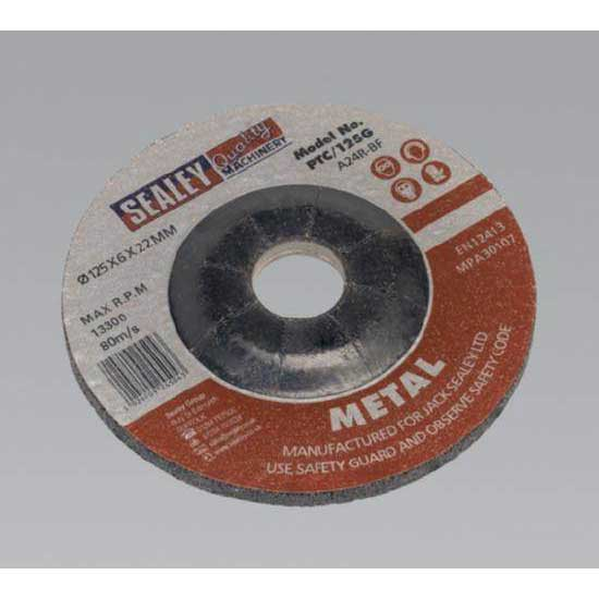 Sealey PTC/125G - Grinding Disc O125 x 6mm 22mm Bore