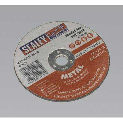 Sealey PTC/3CT - Cutting Disc O75 x 1.2mm 10mm Bore