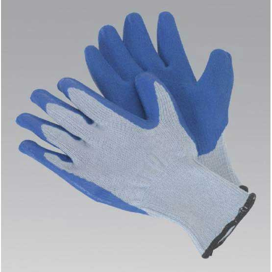 Sealey SSP48 - Latex Knitted Wrist Gloves - Large