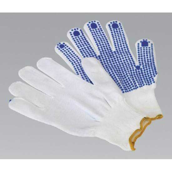 Sealey SSP51 - PVC Anti-Slip Nylon Knitted Gloves - Pair