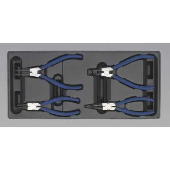 Sealey TBT03 - Tool Tray with Circlip Pliers Set 4pc