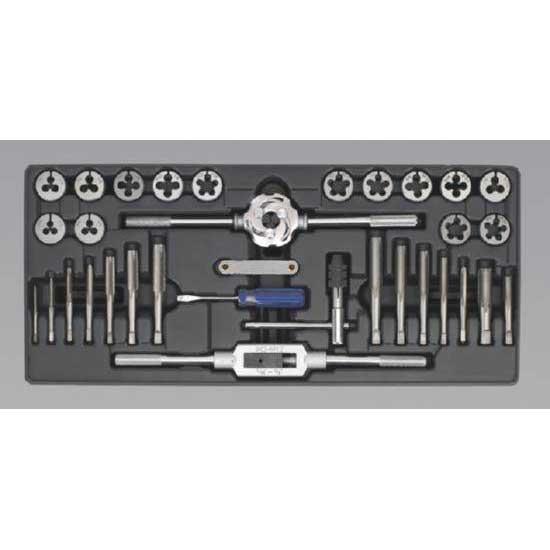 Sealey TBT26 - Tool Tray with Tap & Die Set 33pc