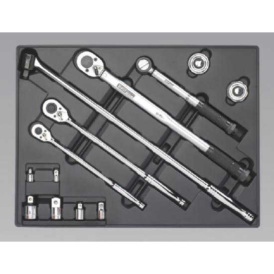 Sealey TBT32 - Tool Tray with Ratchet  Torque Wrench  Breaker Bar & Socket Adaptor Set 13pc