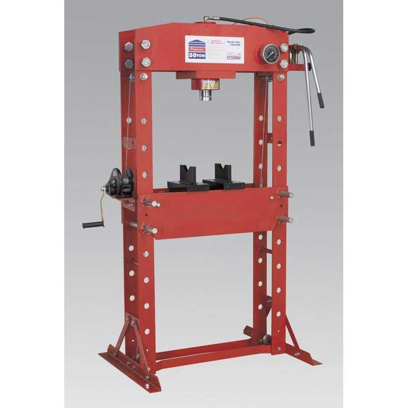 Sealey YK509F Hydraulic Press 50tonne Floor Type