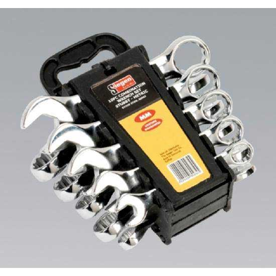 Sealey S0561 - Combination Spanner Set Stubby 10pc Metric
