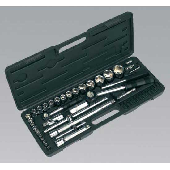 "Sealey S0711 - Socket Set 52pc 1/4"" & 1/2""Sq Drive Metric"