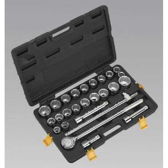 "Sealey S0713 - Socket Set 26pc 3/4""Sq Drive Metric/Imperial"