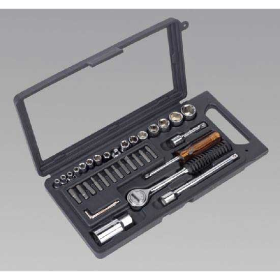 "Sealey S0725 - Socket Set 36pc 1/4"" & 3/8""Sq Drive Metric"