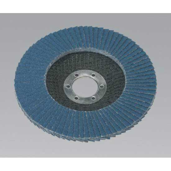 Sealey FD12580 - Flap Disc Zirconium O125mm 22mm Bore 80Grit