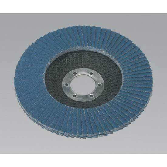 Sealey FD12540 - Flap Disc Zirconium O125mm 22mm Bore 40Grit