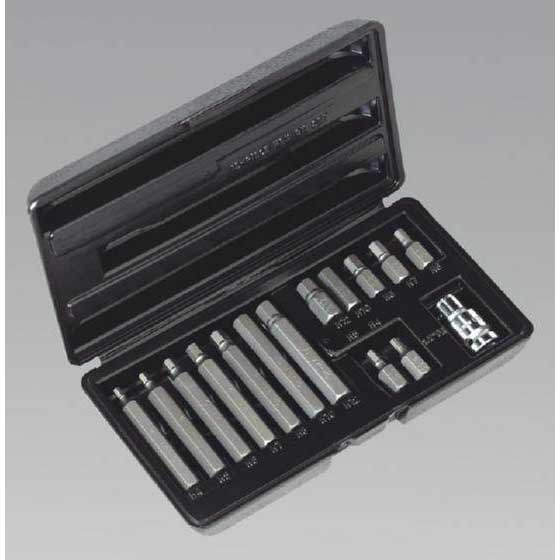Siegen S0533 - Hex Bit & Holder Set 15pc