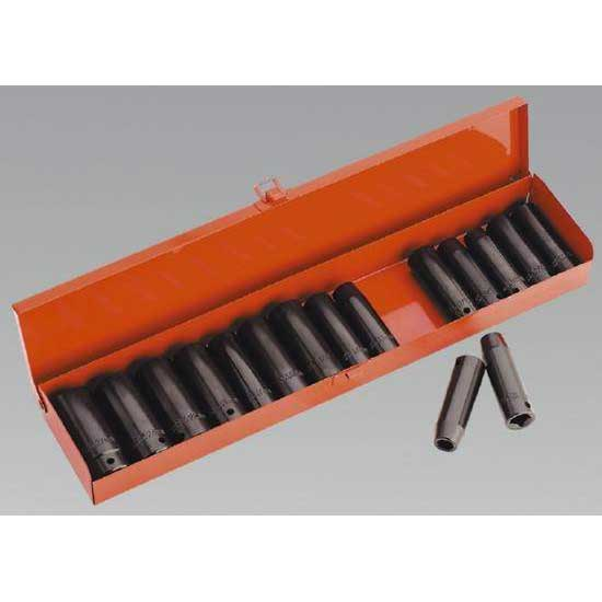 Sealey AK685 - Impact Socket Set 16pc Deep 1/2''Sq Drive Metric/Imperial