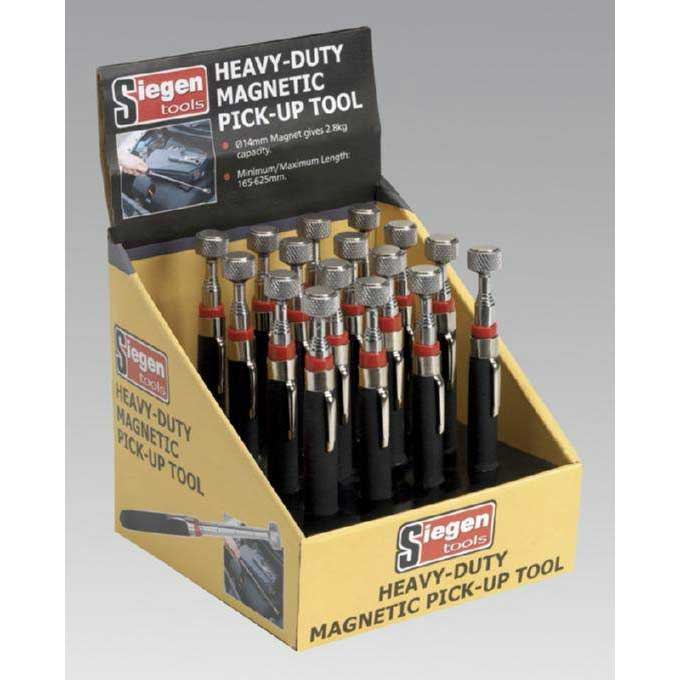 Sealey S0823DB - Heavy-Duty Magnetic Pick-Up Tool 2.8kg Capacity Display Box of 16