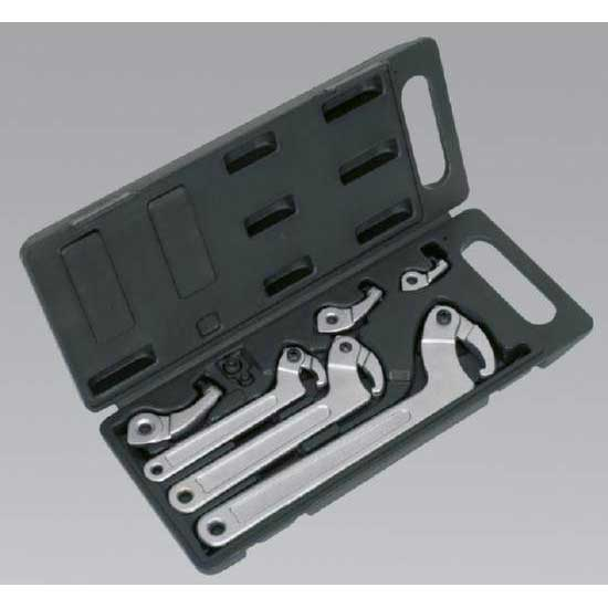 Sealey HWS03 - Adjustable Hook & Pin Wrench Set 11pc