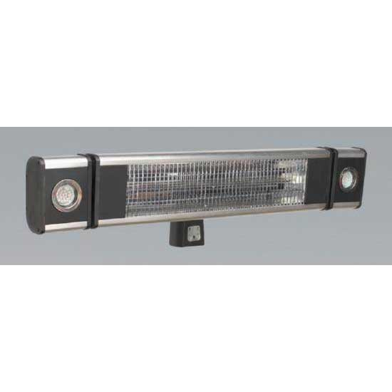 Sealey IWMH1809LR - High Efficiency Carbon Fibre Infrared Wall Heater 1800W/230V with LED Lights