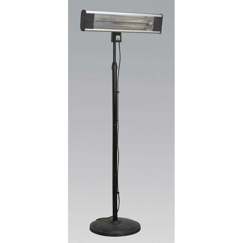 Sealey IFSH1809R - High Efficiency Carbon Fibre Infrared Patio Heater 1800W/230V with Telescopic