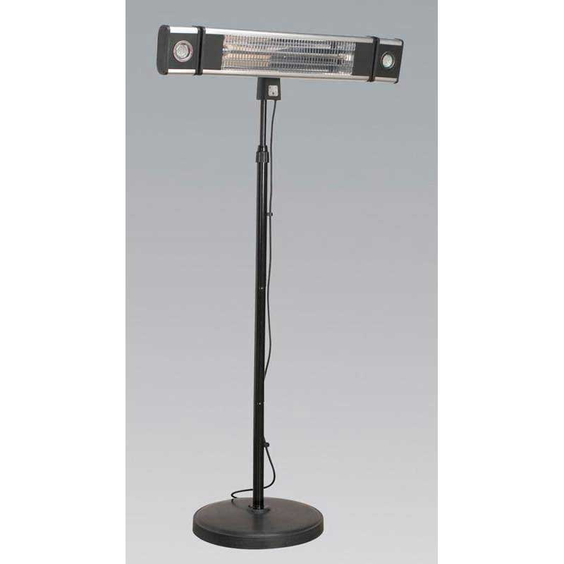 Sealey IFSH1809LR - High Efficiency Carbon Fibre Infrared Patio Heater 1800W/230V with LED Light